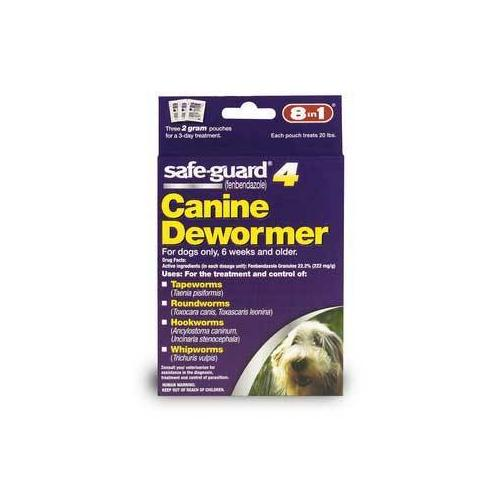 8in1 Safeguard 4 Dog Wormer 2 Grams Medium Dog