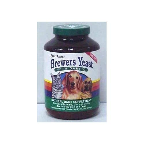 Four Paws Brewers Yeast/Garlic 1000ct