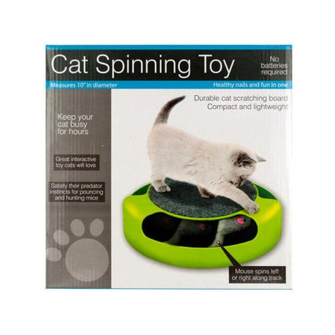 Cat Scratch Pad Spinning Toy with Mouse ( Case of 4 )