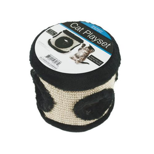 Multi-Textured Mouse Hole Cat Toy ( Case of 3 )