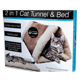 2 In 1 Cat Tunnel & Bed with Heating Layer ( Case of 1 )