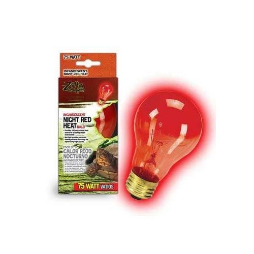 Zilla Night Red Heat Bulb Boxed 75 Watts