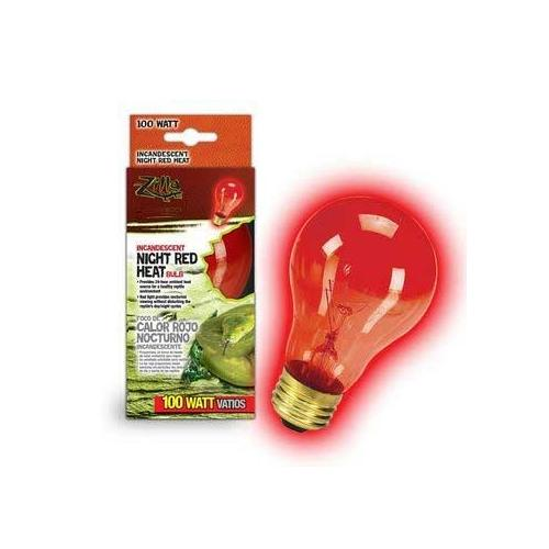Zilla Night Red Heat Bulb Boxed 100 Watts