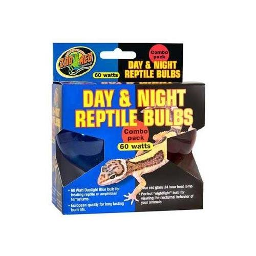 ZooMed Day/Night Reptile Combo Pack 60 Watts