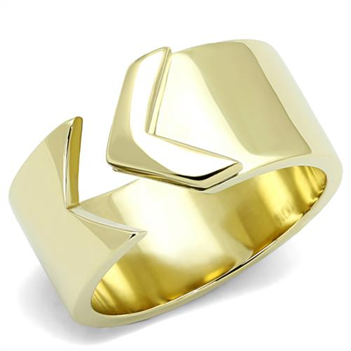 Boho Endless Arrow Ring - women's golden minimalist infinity arrow, IP gold plated stainless steel chunky ring