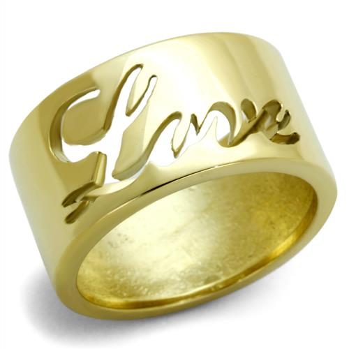 Boho Love Ring - women's all you need is Love on gold plated stainless steel ring