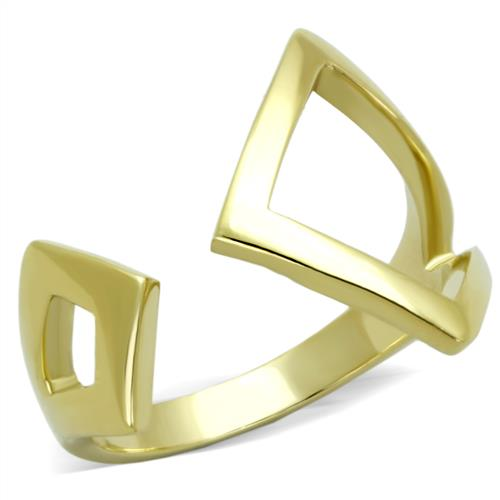 Boho Solar Pyramid Ring - women's solar alignment pyramid IP gold stainless steel ring