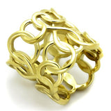 Boho Tangle Ring - women's golden tangles and infinity chained IP gold plated stainless steel chunky ring