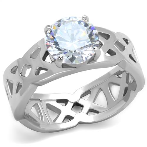Boho Celtic Criss-Cross Ring - women's boho celtic criss-cross crystal stainless steel ring
