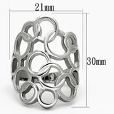 Boho Geometric Bubbles Ring - women's interlinking circles pattern stainless steel ring