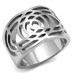 Boho Interwoven Circles Ring - women's celtic woven circles stainless steel chunky ring