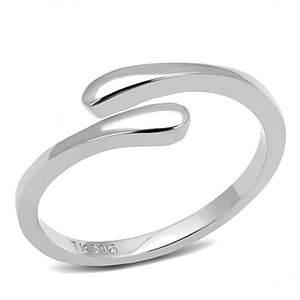 Boho Parallels Ring - women's twin extended ends minimal stainless steel ring