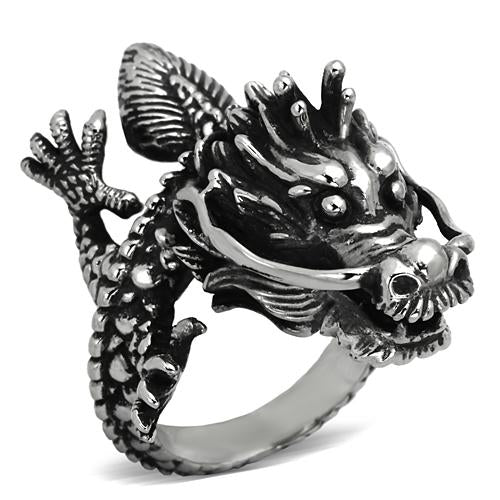 Boho T'ien Lung Dragon Ring - women's heavenly dragon stainless steel ring