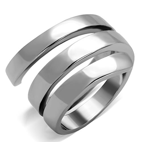 Boho Wrapping Ribbon Ring - women's minimal thick triple wrap stainless steel chunky ring