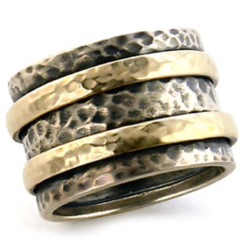Boho Hammered Alchemy Ring - women's Circe transformative two tone hammered brass chunky ring