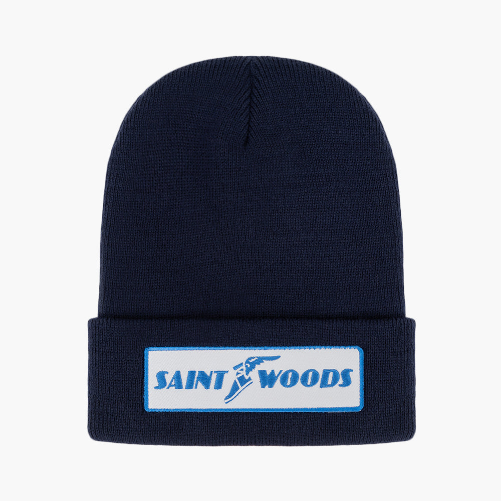 Navy Patch Beanie (3 Options)