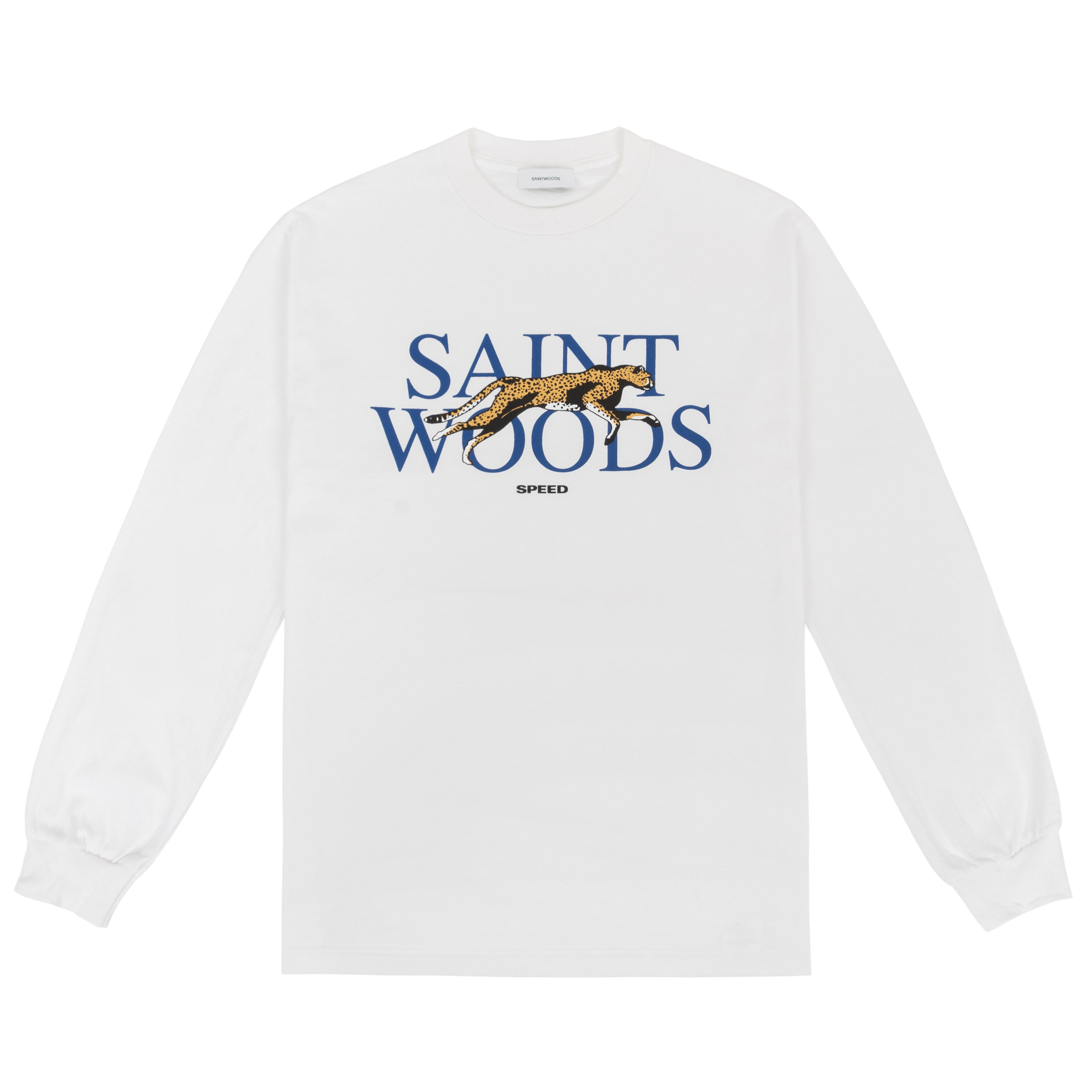 White Speed Long Sleeve T-Shirt