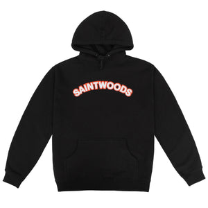 Black Chenille Patch Hoodie