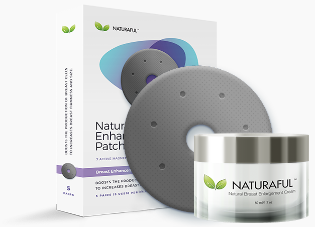 NATURAFUL Breast Enhancement Cream & Breast Enhancement Patch Bundle Pack Kit