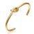 Knot Cuff Metal Bangle  Gold