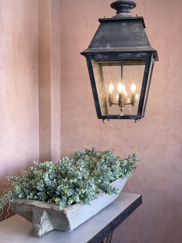 Pair of French vintage lanterns in the entrance of Kier Design Interiors