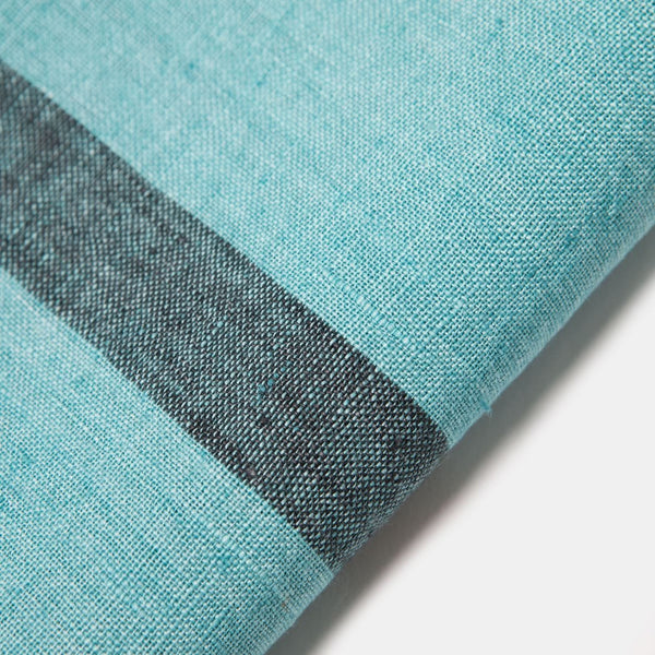 Stonewashed Linen Table Runner in Aqua