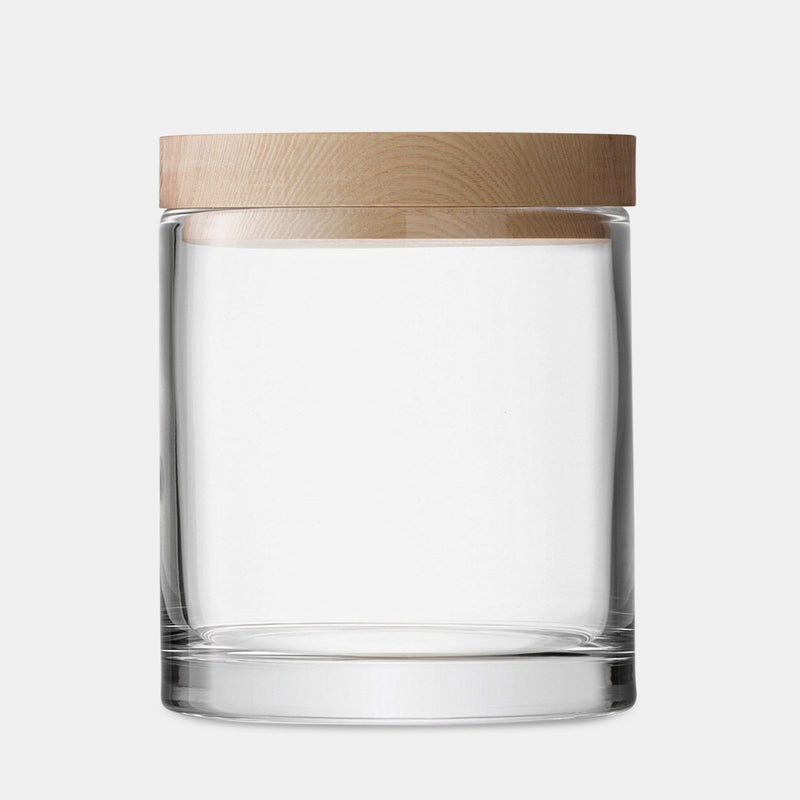 Oak & Glass Canister