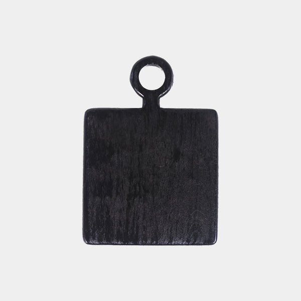 Small Black Serving Board Square