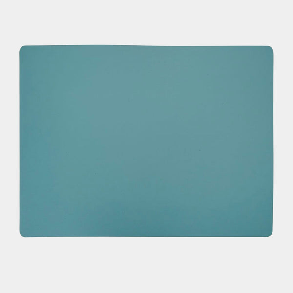 Recycled Leather Placemat Rectangle in Eucalyptus