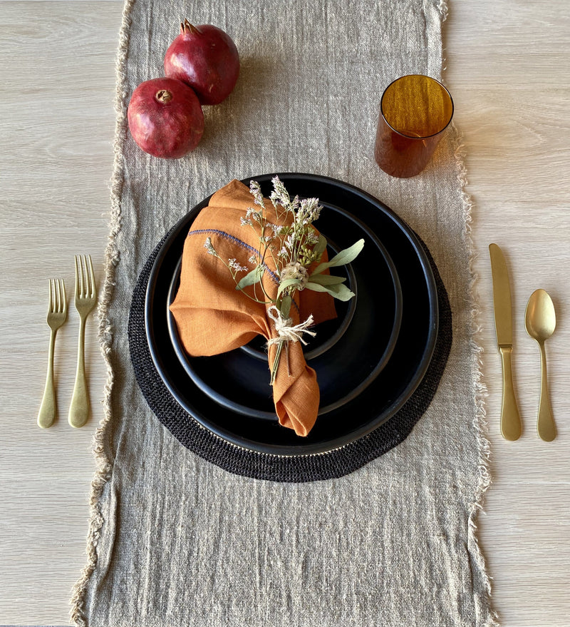 Natural Clay Dinner Plate