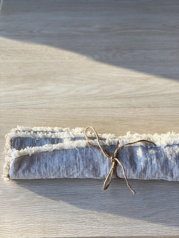 Raw Edge Linen Napkins in Natural
