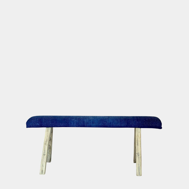 Vintage Indigo Wood Bench