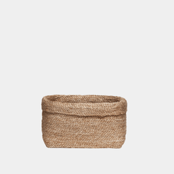 Fold Over Jute Storage Basket