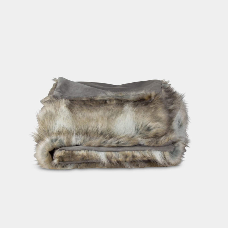 Faux Fox Fur Throw