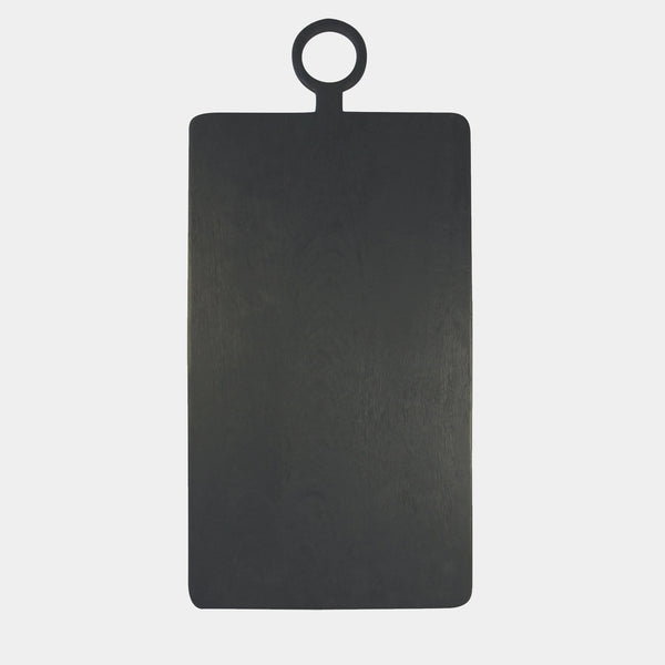 Large Black Serving Board front view