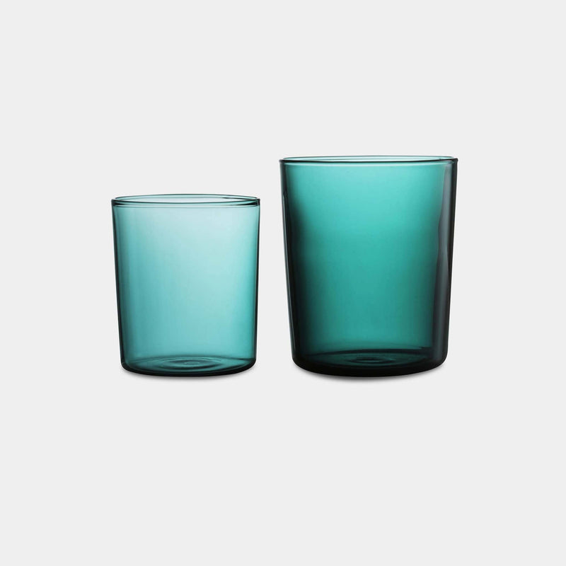 Teal Tumbler Set of 4 in Large