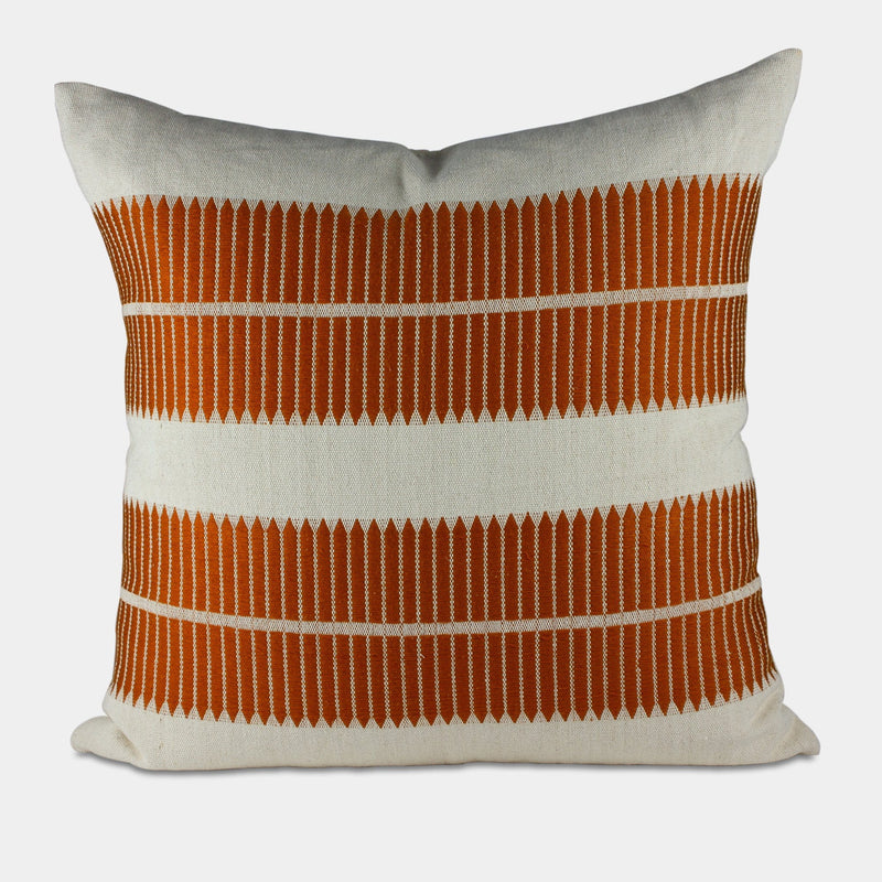 Orange Woven Pillow