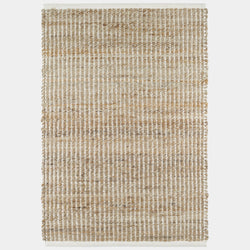 Gridwork Woven Jute Rug in Ivory