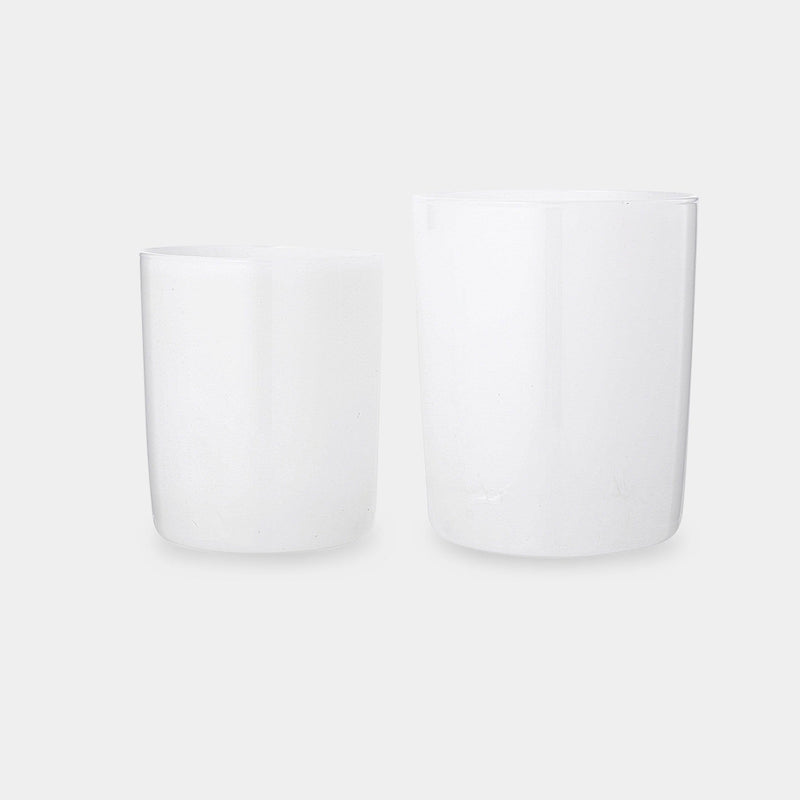 White Tumbler Set of 4 in Large