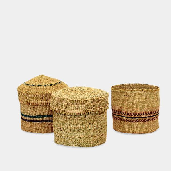 Tobin Woven Basket with Lid
