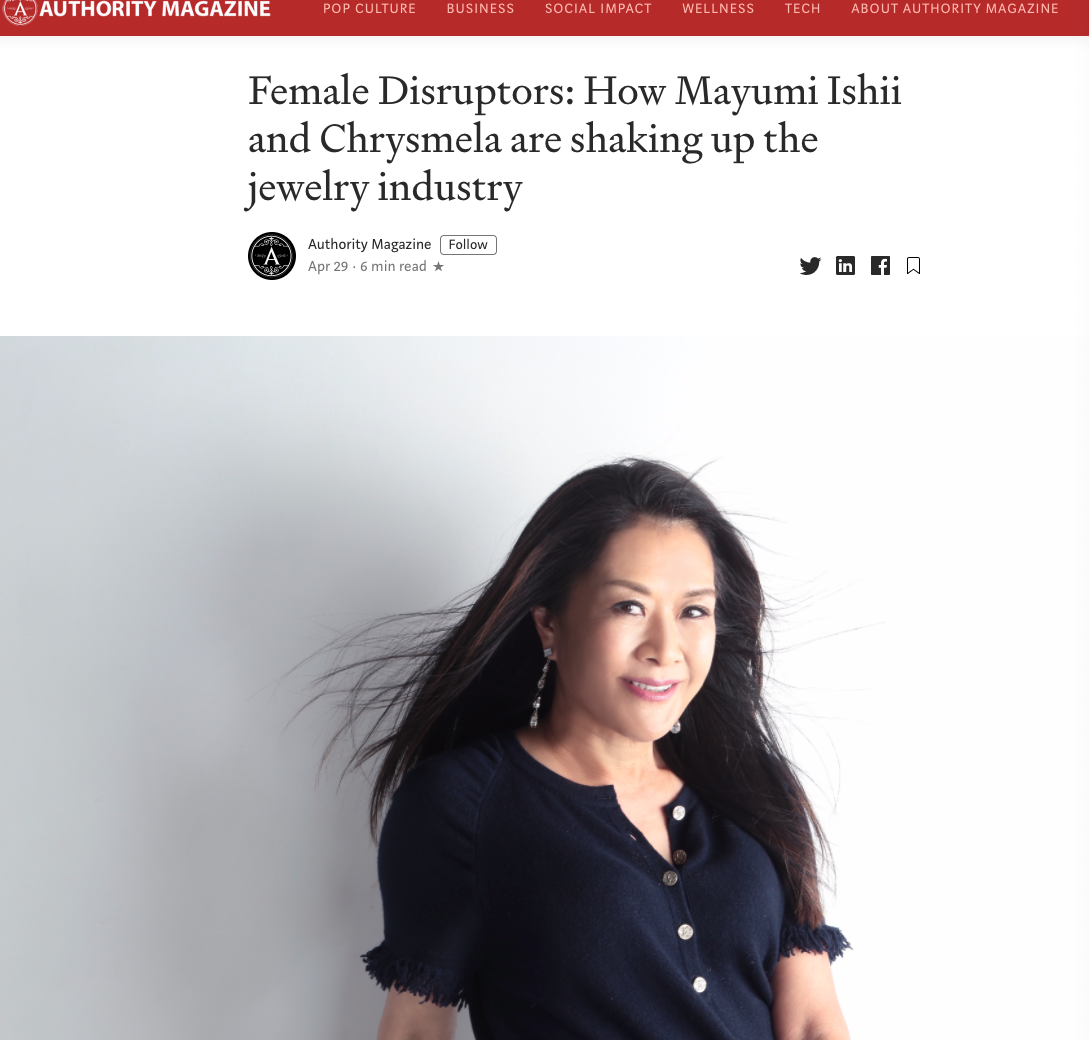 Female Disruptors:  Shaking up the jewelry industry