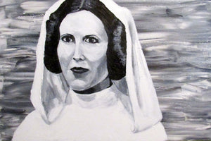 Star Wars Original Painting  Princess Leia Skywalker