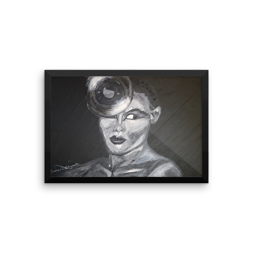 Grace Jones Icons of the 70's Framed photo paper poster