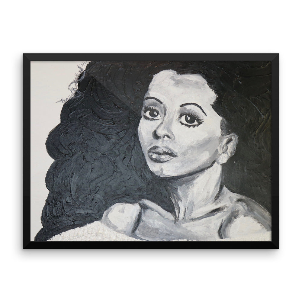 Diana Ross Icons of the 70's Framed photo paper poster