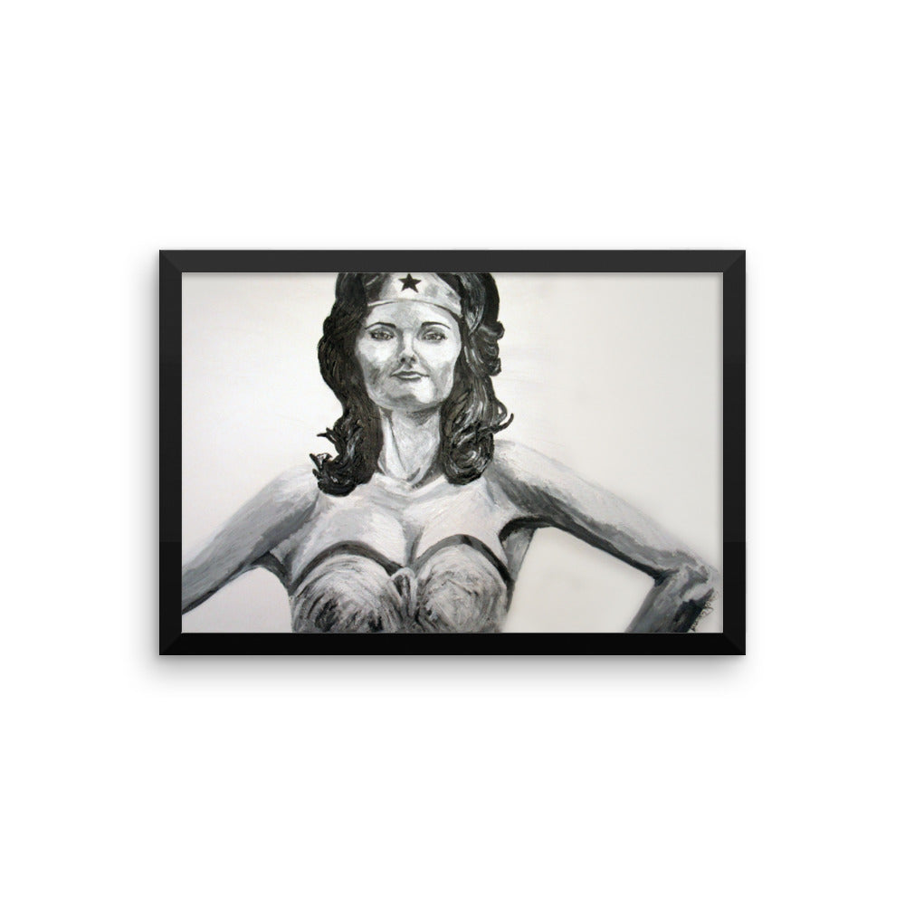 Wonder Woman Icons of the 70's Framed photo paper poster