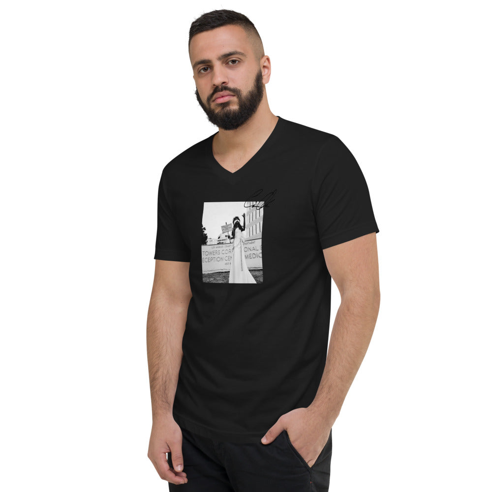 Justice Isn't Blind Unisex Short Sleeve V-Neck T-Shirt