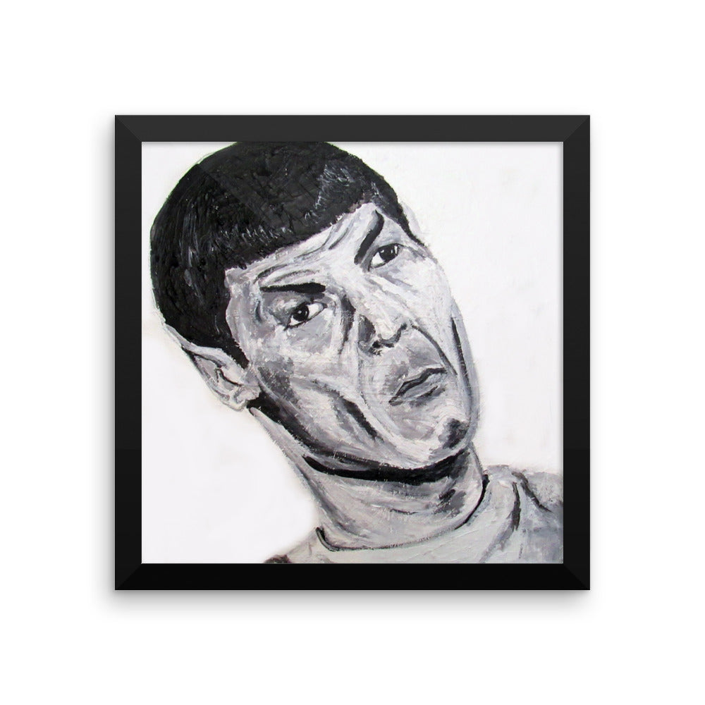 Spock Icons of the 70's Framed photo paper poster