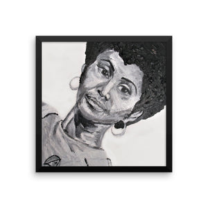 Uhura of the 70's Framed photo paper poster