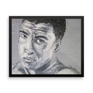 Muhammad Ali Icons of the 70's Framed photo paper poster