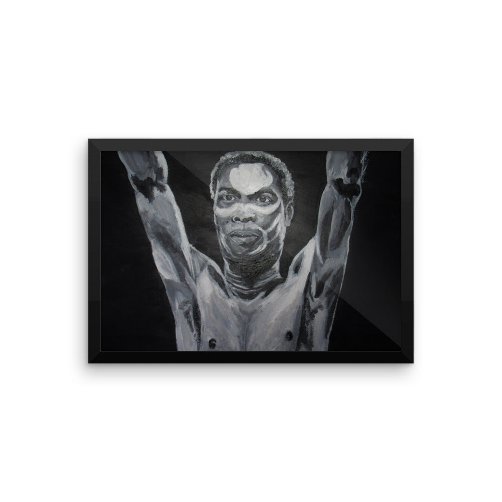 Fela Kunti Icons of the 70's Framed photo paper poster